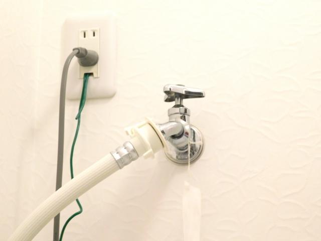 洗面所の洗濯機用蛇口