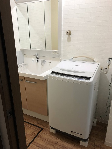 750mmの洗面台を設置したサイズ感