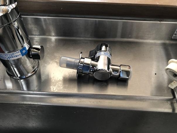 キッチン水栓の分岐水栓
