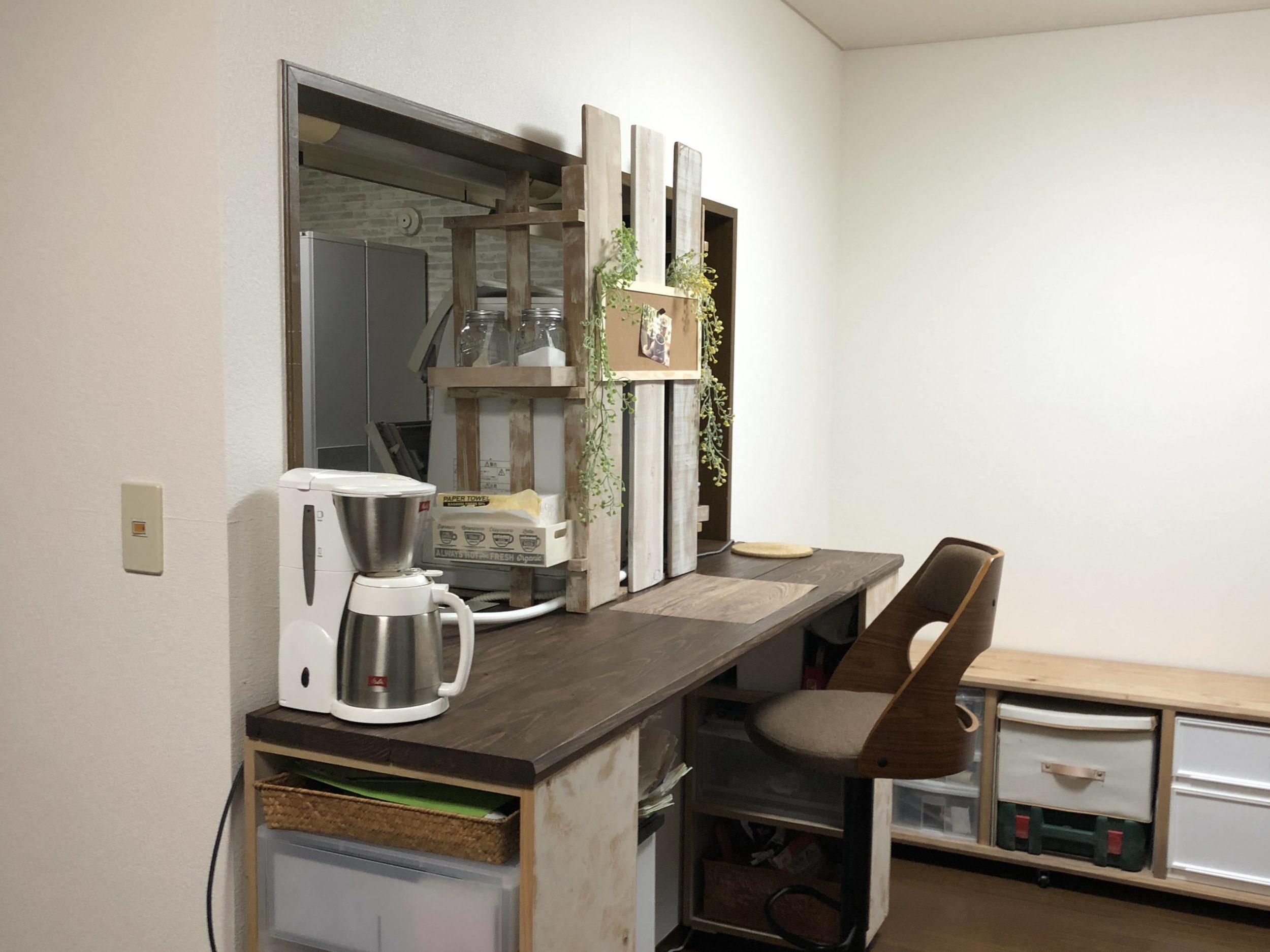 完成したキッチンカウンターの画像